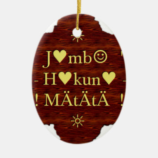 jambo Hakuna Matata day Gifts.png Ceramic Ornament