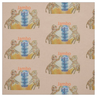 Jambo Kenya Elephant kids Craft Supplies Fabric