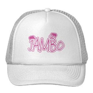 Jambo swahili Hello pink  Cap