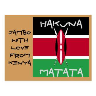 Jambo With Love FromKenya Hakuna Matata post cards