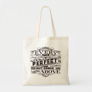James 1:17 Bible Verse Tote Bag