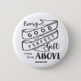 James 1 17 Typography 6 Cm Round Badge