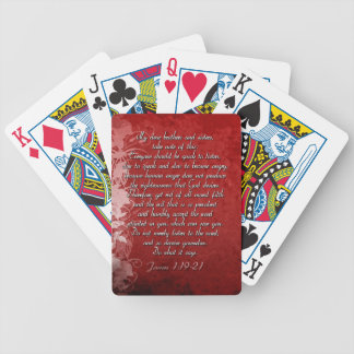 James 1:19 Scripture Gift Bicycle Playing Cards