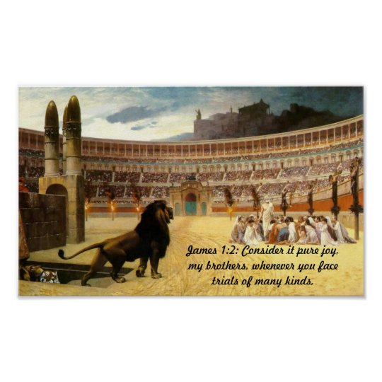 James 1:2 Christian Martyrs in Prayer Poster. Poster
