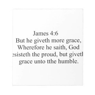 James 4:6 notepad