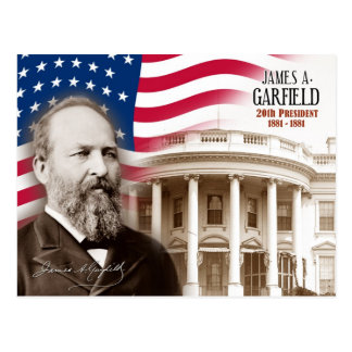 James A. Garfield -  20th President of the U.S. Postcard