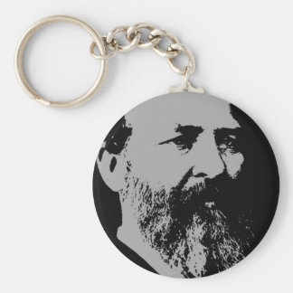 James A. Garfield silhouette Key Ring