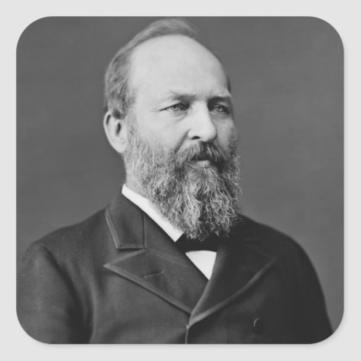 James A. Garfield Square Stickers