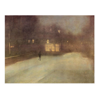 James Abbot McNeill Whistler - Nocturne in gray an Postcard