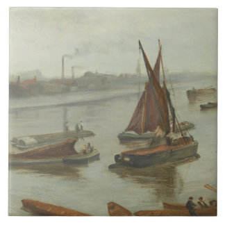 James Abbott McNeill Whistler - Grey and Silver Large Square Tile