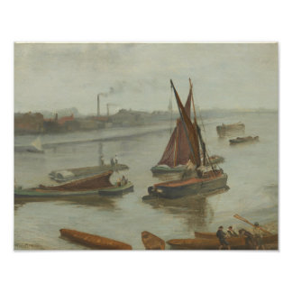 James Abbott McNeill Whistler - Grey and Silver Poster