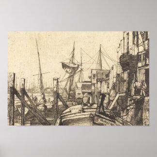 James Abbott McNeill Whistler - Limehouse Poster