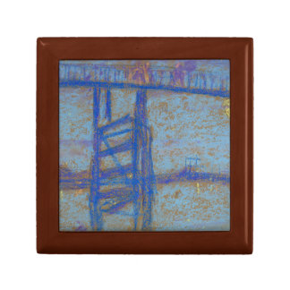 James Abbott McNeill Whistler -Nocturne-Battersea Small Square Gift Box