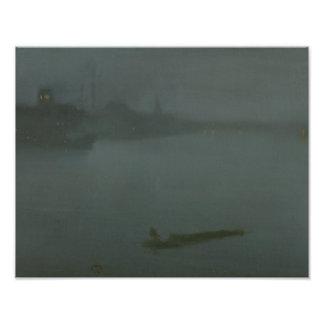 James Abbott McNeill Whistler - Nocturne in Blue Photo