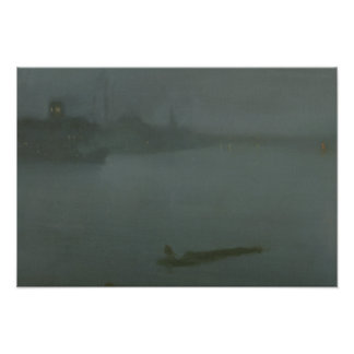 James Abbott McNeill Whistler - Nocturne in Blue Photographic Print