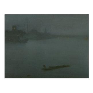 James Abbott McNeill Whistler - Nocturne in Blue Postcard