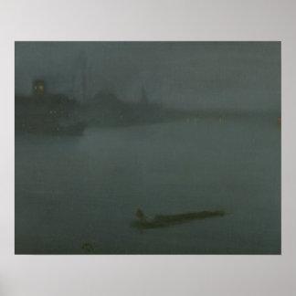 James Abbott McNeill Whistler - Nocturne in Blue Poster