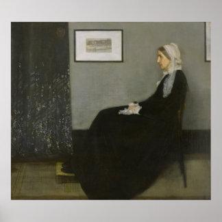 James Abbott Whistler - Whistler's Mother Print