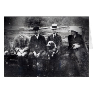 James and Lytton Strachey with Thoby, Adrian Card