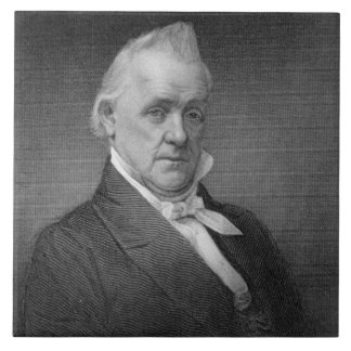 James Buchanan, engraved by Henry Bryan Hall (1800 Tile