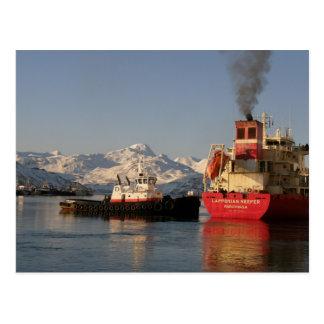 James Dunlap Tugboat in Dutch Harbor Postcard