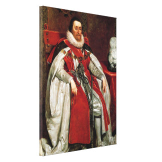 James I by Daniel Mytens Canvas Print