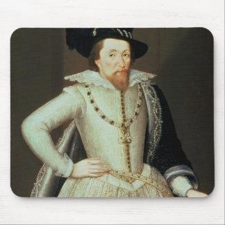 James I, half-length portrait Mouse Pad