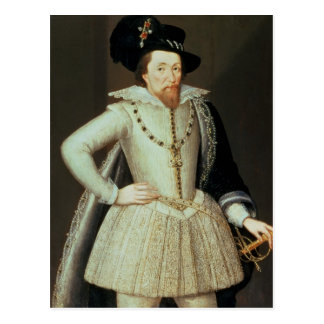 James I, half-length portrait Postcard
