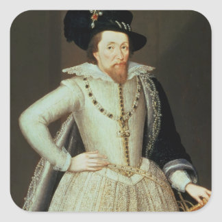 James I, half-length portrait Stickers