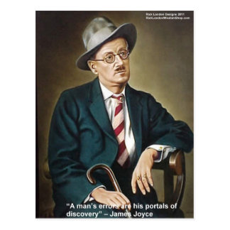 """James Joyce """"Errors/Portals"""" Quote Gifts & Cards Postcard"""