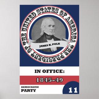 James K. Polk Presidential History Poster