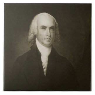 James Madison, 4th President of the United States Large Square Tile