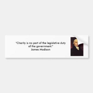 James Madison - Charity Bumper Sticker