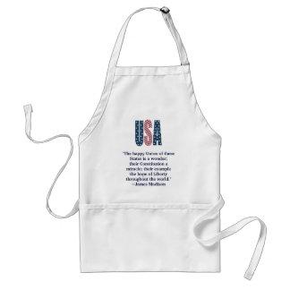 James Madison Patriotic Quote Standard Apron