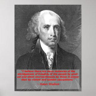 James Madison Poster