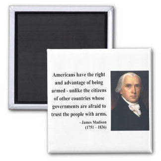 James Madison Quote 4b Square Magnet