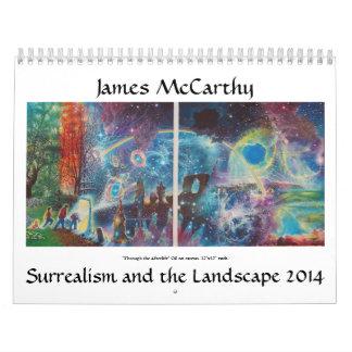 James McCarthy Surrealism and the Landscape 2014 Calendar