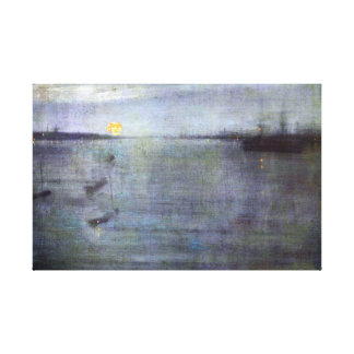James McNeil Whistler Nocturne in Blue and Gold Canvas Print