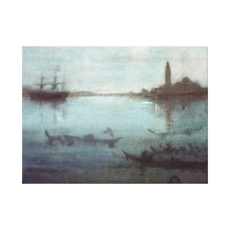 James McNeil Whistler Nocturne in Blue and Silver Canvas Print