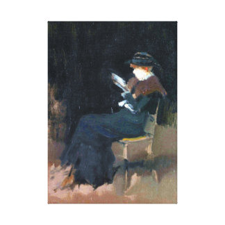 James McNeill Whistler Girl in Black Reading Canvas Print