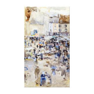 James McNeill Whistler Market Dieppe, France Canvas Print