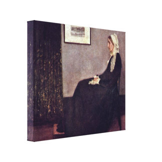 James McNeill Whistler - Mother of the artist Gallery Wrapped Canvas