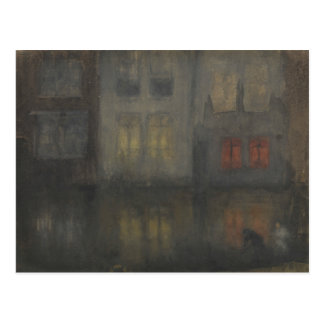 James McNeill Whistler - Nocturne - Black and Red Postcard