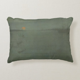 James McNeill Whistler - Nocturne- Blue and Gold Decorative Cushion