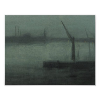 James McNeill Whistler - Nocturne- Blue and Silver Photo Art