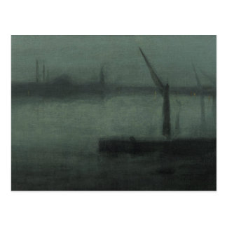 James McNeill Whistler - Nocturne- Blue and Silver Postcard