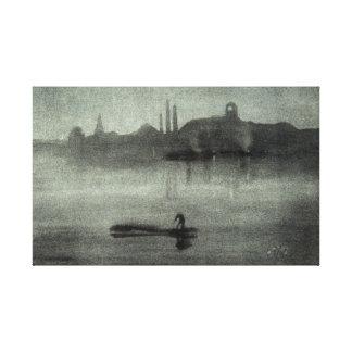 James McNeill Whistler Nocturne Canvas Print