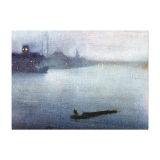 James McNeill Whistler Nocturne in Blue and Silver Canvas Print