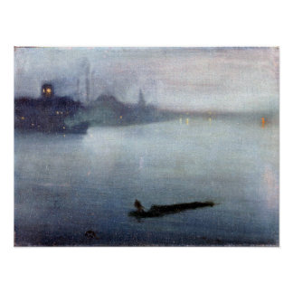 James McNeill Whistler Nocturne in Blue and Silver Poster