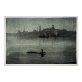 James McNeill Whistler Nocturne Poster
